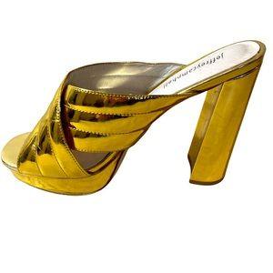 Jeffrey Campbell Gold Cross Strap Platform Shoe